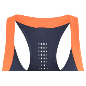 asics Color Block Bra 2 Biustonosze sportowe Kobiety pomarańczowy/niebieski